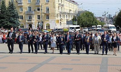 Торжественной митинг, посвященный Дню партизан и подпольщиков в Брянске