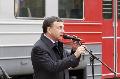 Торжественный митинг, посвященный 150-летию начала железнодорожного сообщения между Тулой, Орлом и Курском