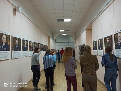 В первом корпусе Тульского педагогического университета открылась выставка «Мужская работа».